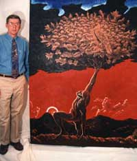 Brave Eagle Tree is one of the oil paintings in Yur Art's eight online galleries. It is one of Donn Ziebell's large oil paintings.